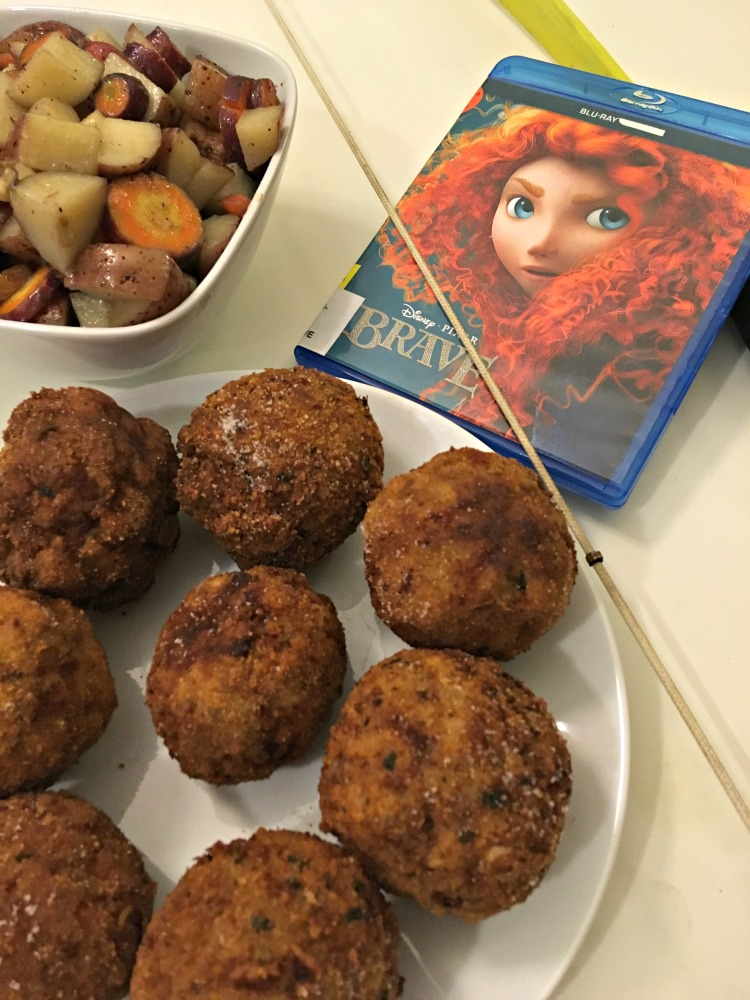 Make it a family movie night with this recipe for Scotch Eggs and the movie Brave.