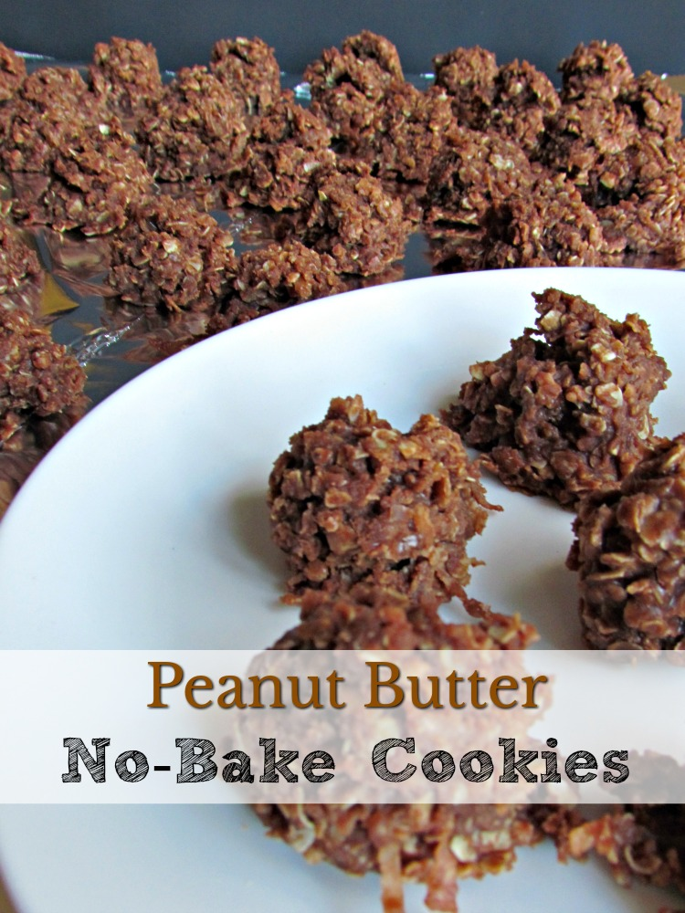 Peanut Butter No-Bake Cookies are the perfect quick cookie recipe you've been looking for.