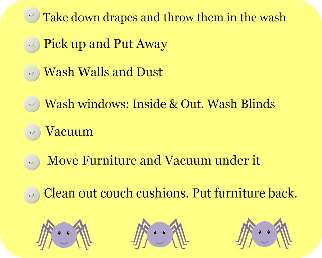 Spring Cleaning Day 2 – Living Spaces and Windows
