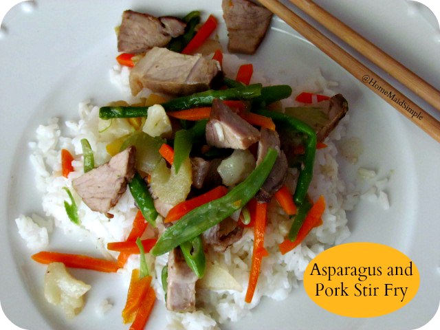 Asparagus and Pork Stiry Fry