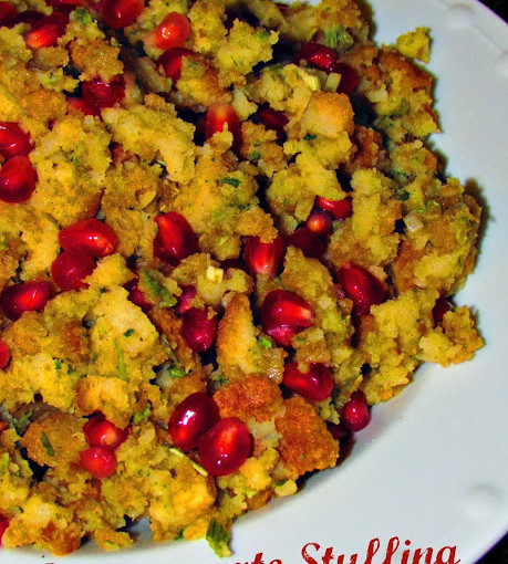 Easy Pomegranate Stuffing using Stovetop.