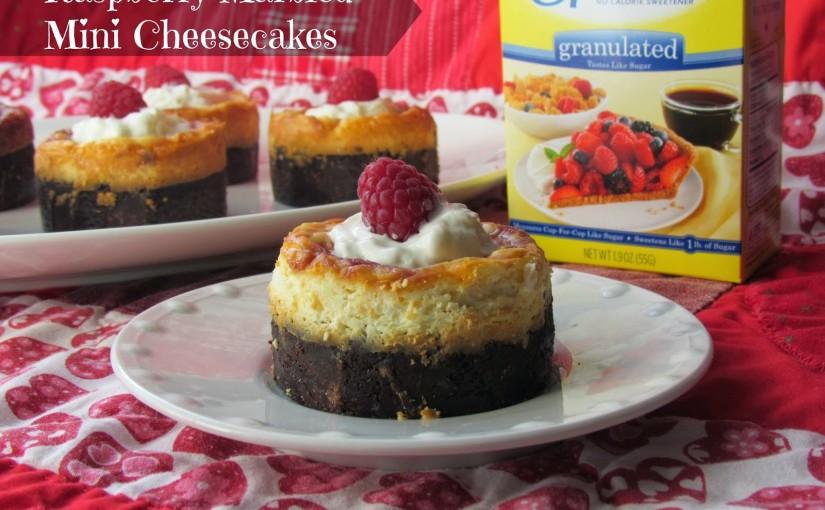 Raspberry Marbled Mini Cheesecakes