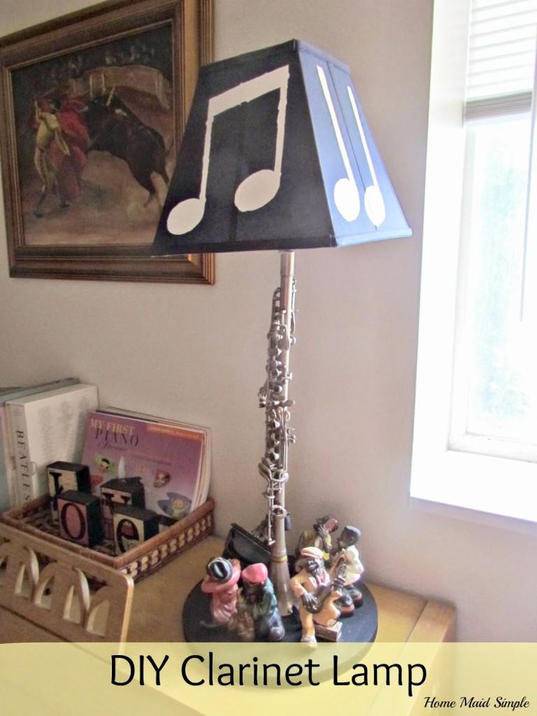 DIY Clarinet Lamp
