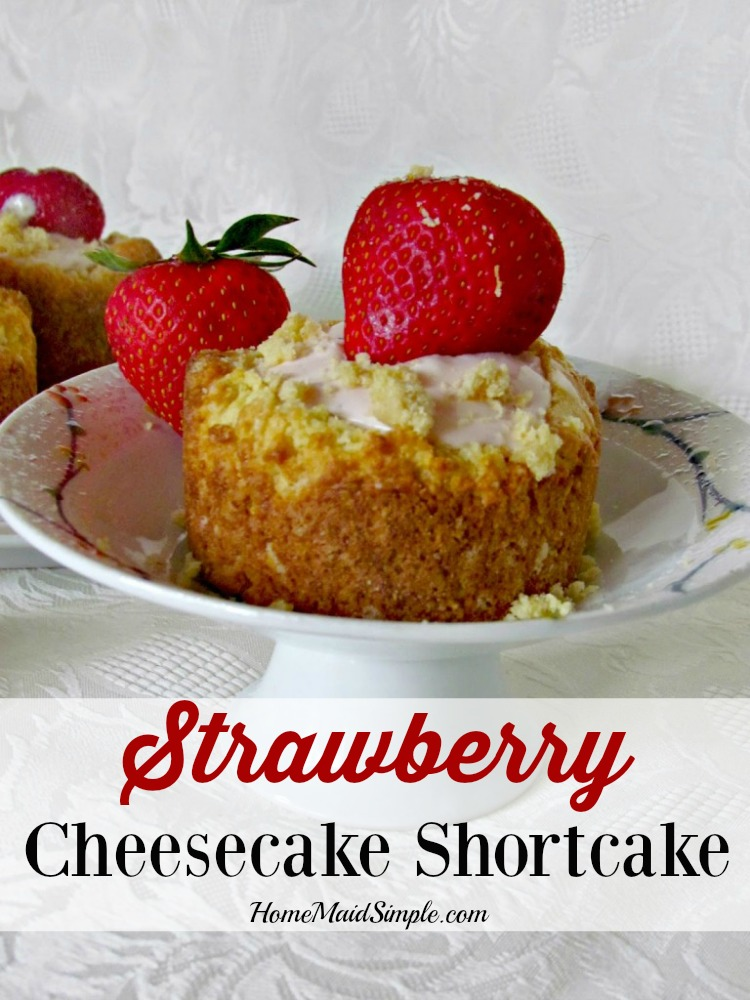 Delight in strawberries this spring with this Strawberry Cheesecake Shortcake.