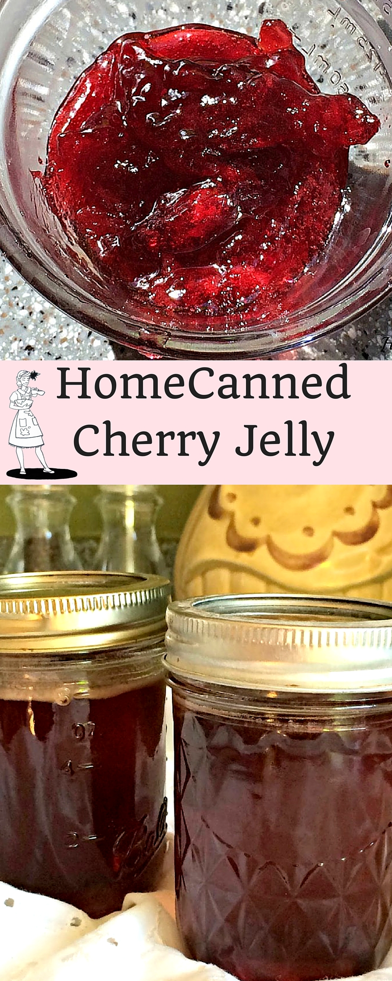 Home Canned Cherry Jelly. Spread it on toast, or pour it over your Sunday Roast. However you serve it, you'll love having this stocked in your pantry.
