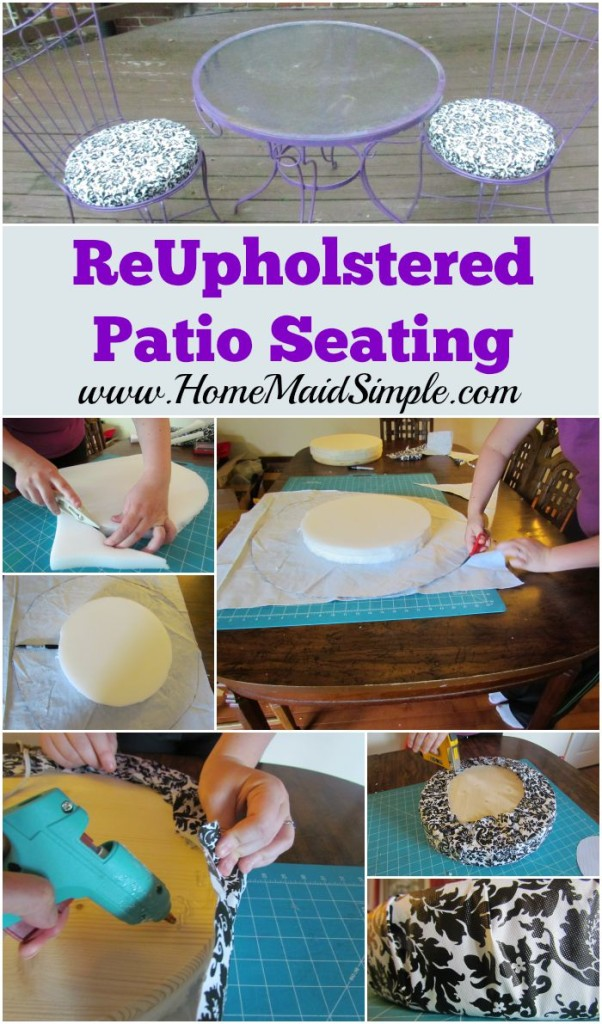 reupholster patio seating