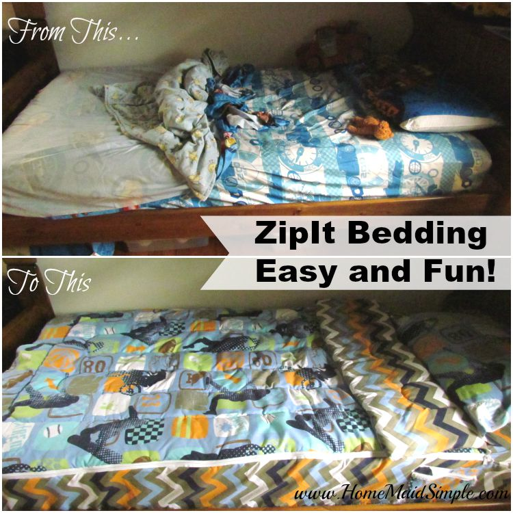 Zipit Bedding® is fun and easy + a Zipit Bedding® Giveaway