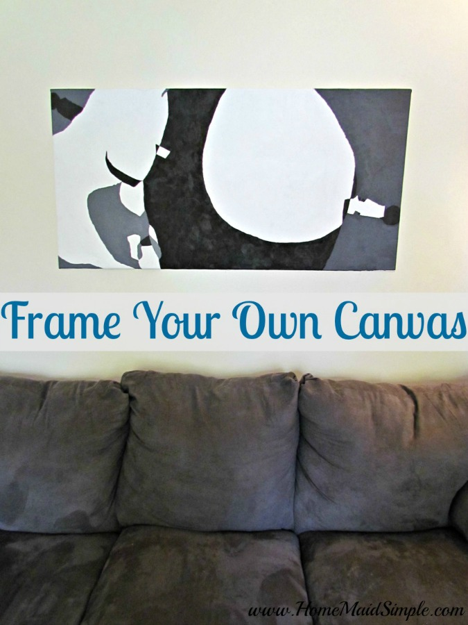 One Room Challenge: Frame Your Own Canvas DIY