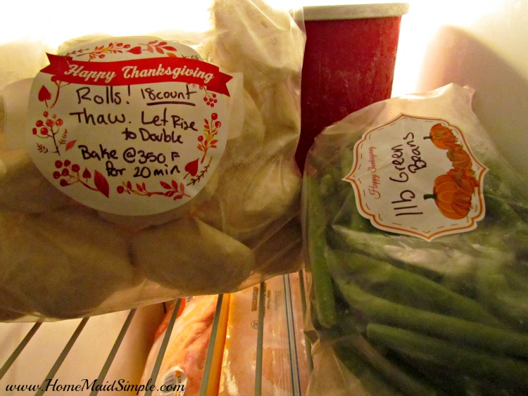 Prepping for Thanksgiving is easy with Freezer Rolls and labels from FreezerLabels