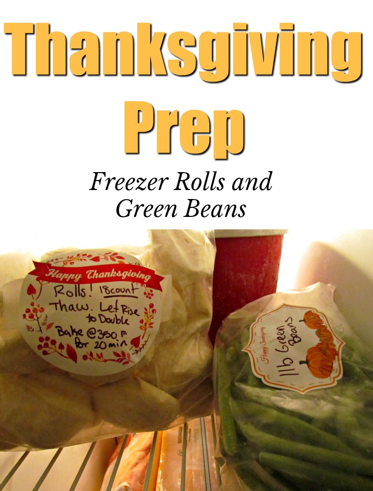 Start Thanksgiving Prep early with these freezer rolls.