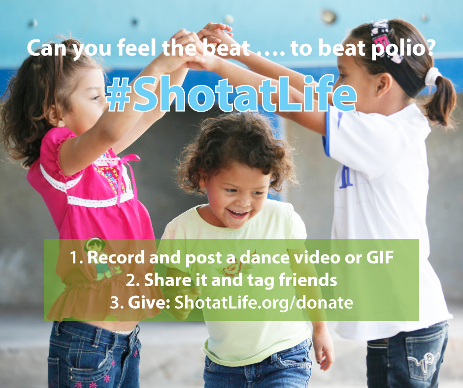 Can you feel the beat...to beat polio? Donate to Shot@Life and help eradicate polio for good