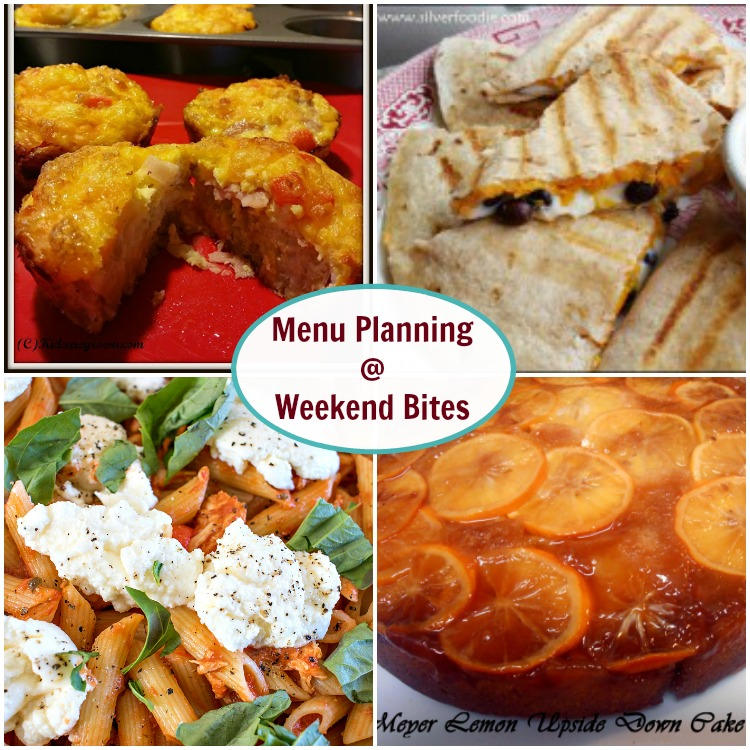 Plan your menu from the Weekend Bites Link Party
