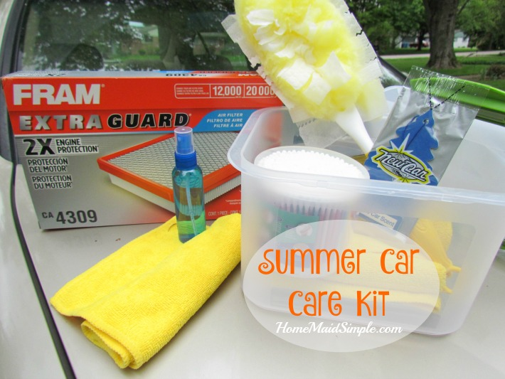 Get ready for travel with this Summer Car Care Kit. #summercarcare ad