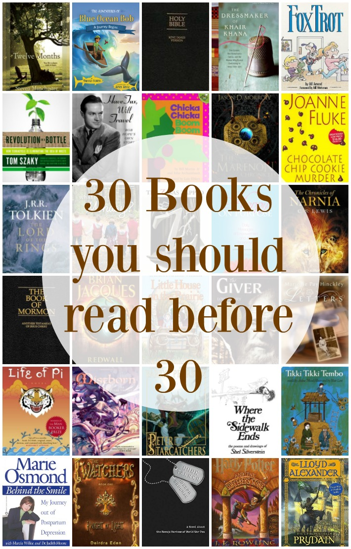 30 books you should read before 30.