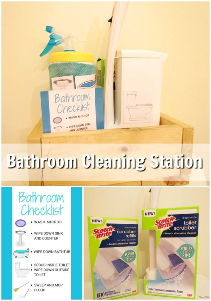 Teaching Kids to Clean with a Bathroom Cleaning Station