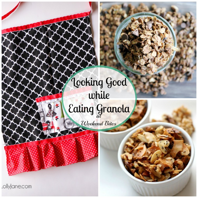Check out these Granola Recipes and a cute half Apron tutorial at Weekend Bites!
