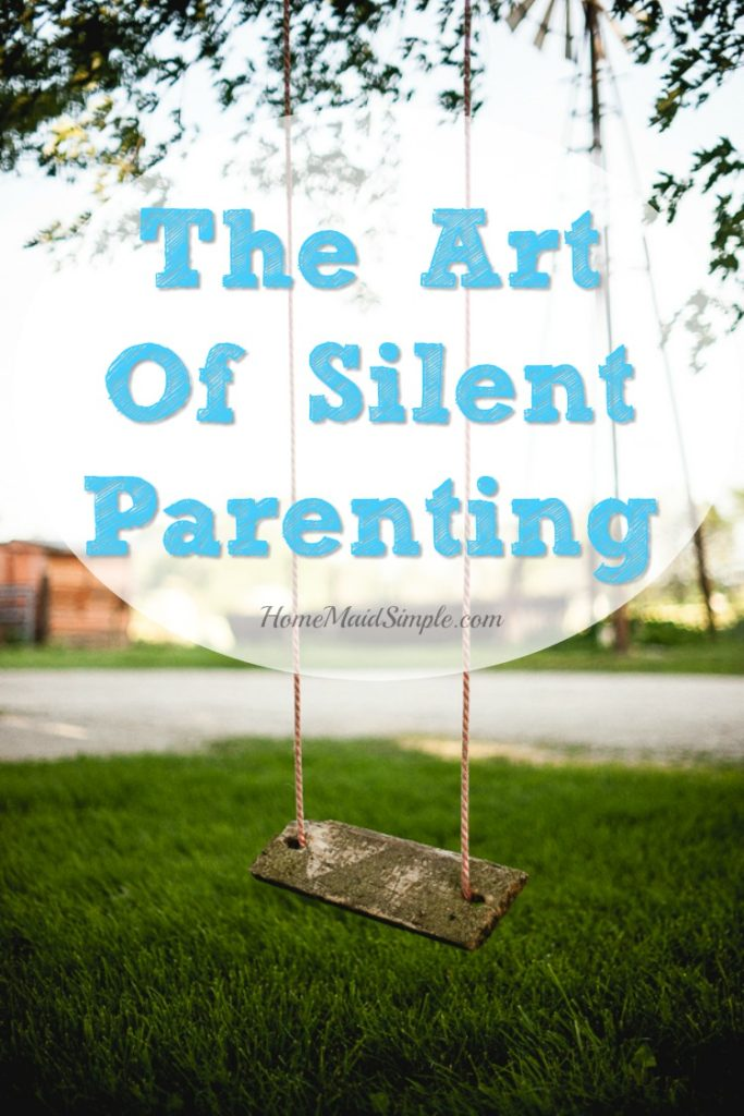 Have you tried learning the art of Silent Parenting? Stop talking, and just breathe.