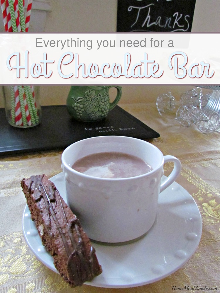 Everything you need for a successful Hot Chocolate Bar. ad