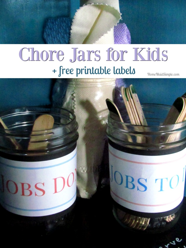 Take 5 minutes to put together these DIY Chore Jars for your kids today.