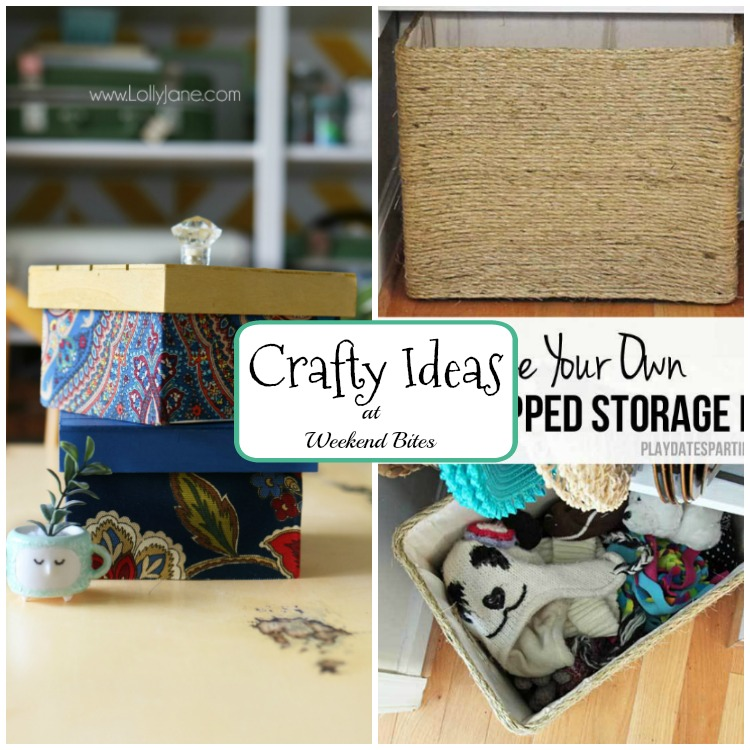 Check out these crafty ideas at Weekend Bites! Then share your posts with us.