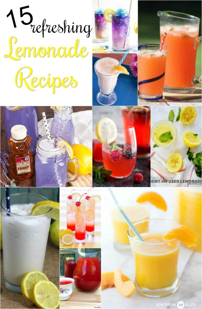 15 refreshing lemonade recipes for a summer full of lemonade stands.