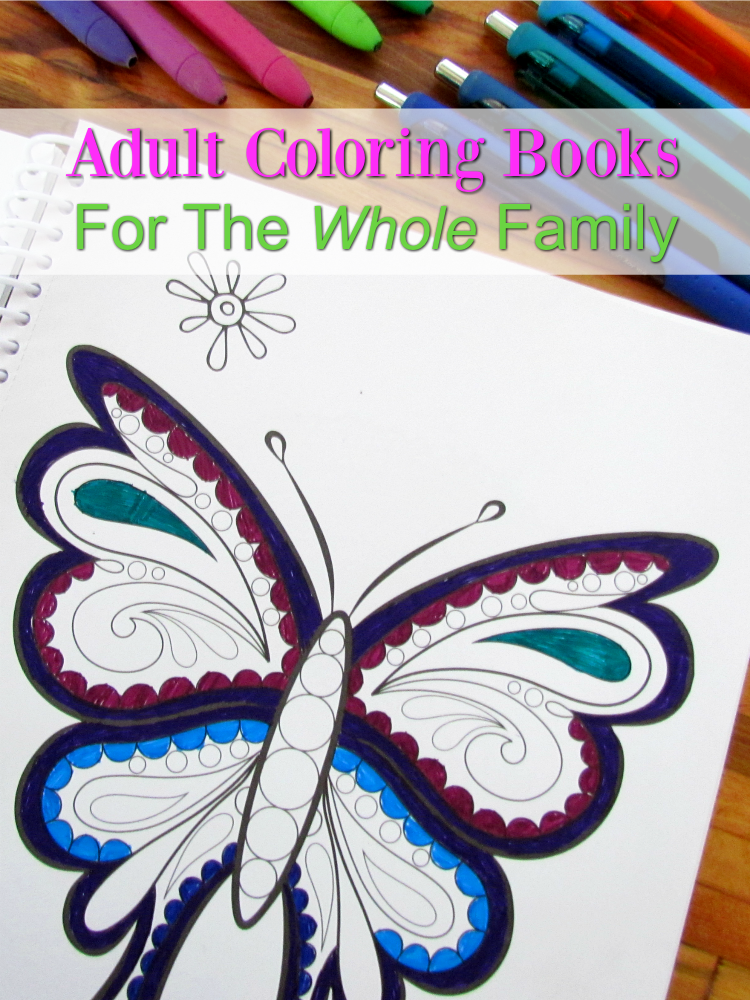 Adult Coloring books aren't just for adults these days. Check out my favorites for the whole family. ad