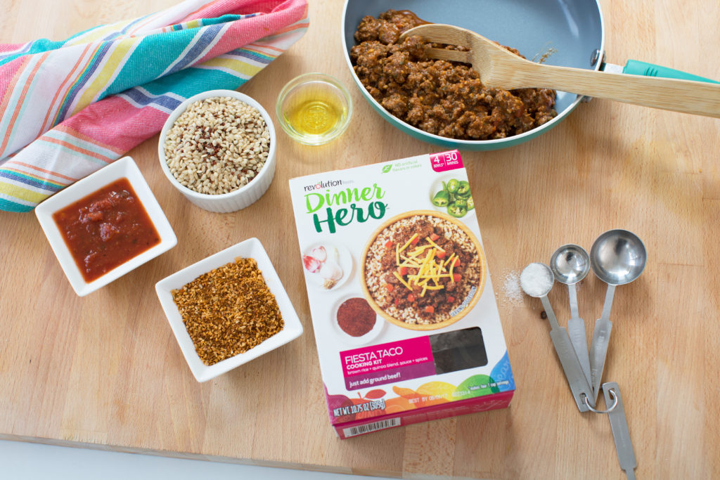 Be a Dinner Hero with Revolution Foods Fiesta Taco. ad