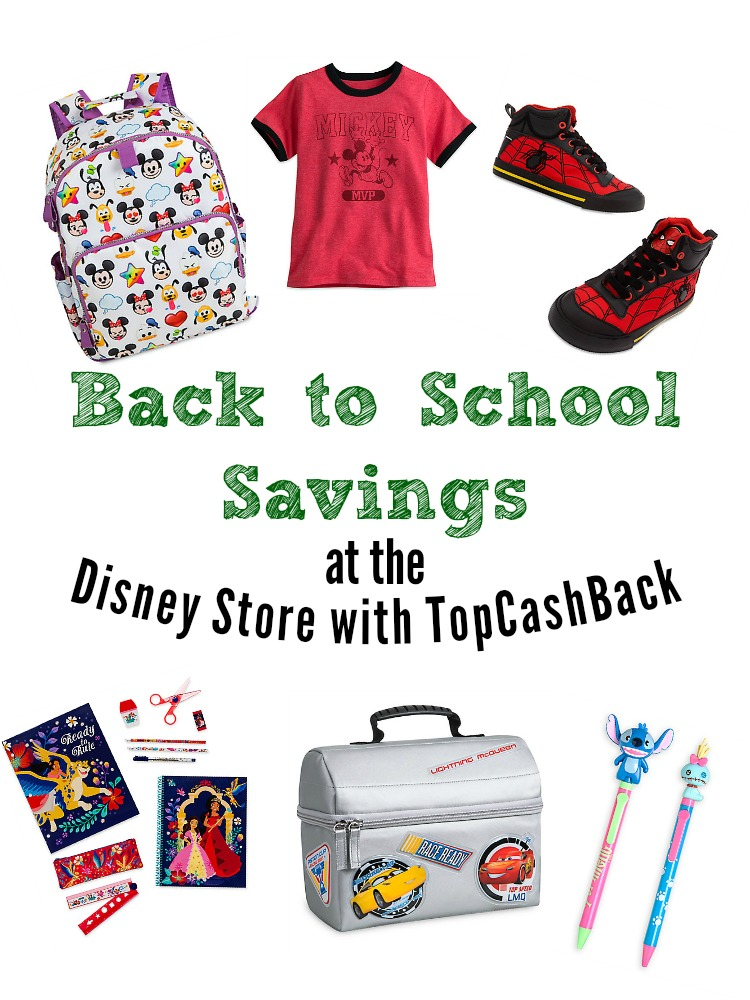 Get Back to School Savings at the Disney Store with TopCashBack. ad