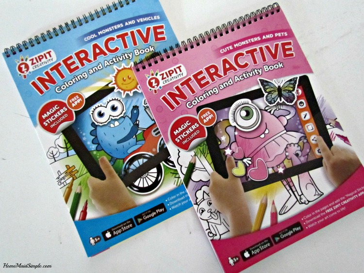 ZIPIT Interactive Coloring and Activity Book Giveaway