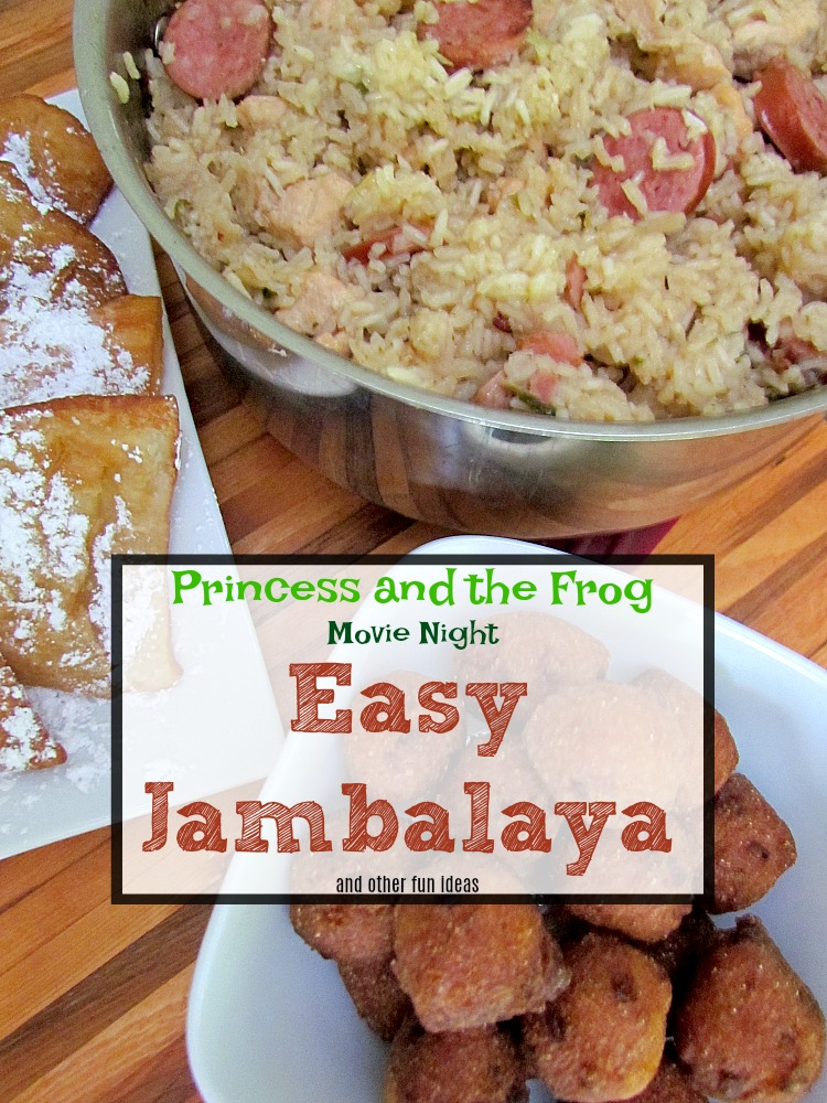 Make it a movie night with this Easy Jambalaya and more family fun tips for watching The Princess and the Frog.