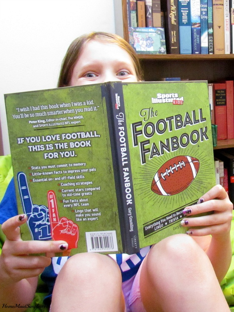 The Football Fanbook from Sports Illustrated Kids for your mini fan. ad