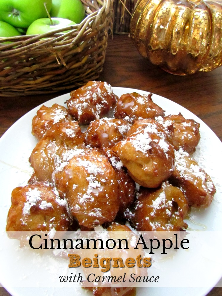 Cinnamon Apple Beignets with Caramel Sauce is all that it says and more. ad