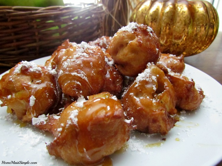 Cinnamon Apple Beignets with Caramel Sauce bring all the flavors of fall together. ad