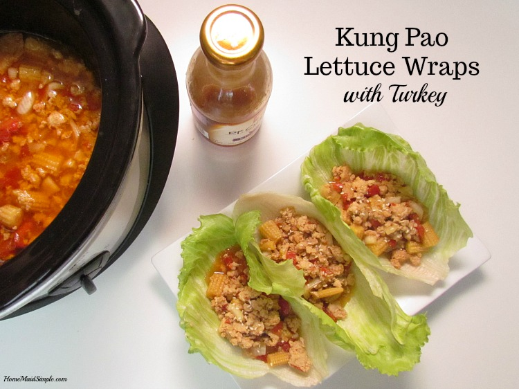 Slow Cooker Kung Pao Lettuce Wraps with Turkey are a delicious family recipe. ad