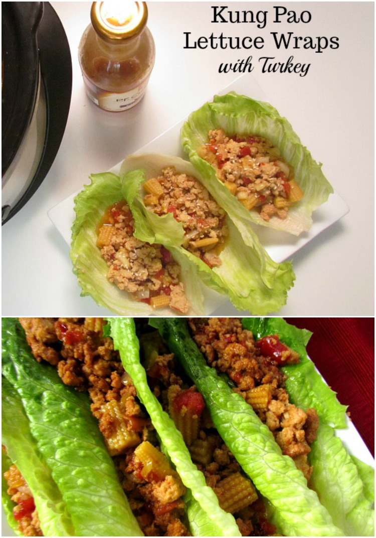 Slow Cooker Kung Pao Lettuce Wraps with Turkey recipe is a meal your family will love. ad