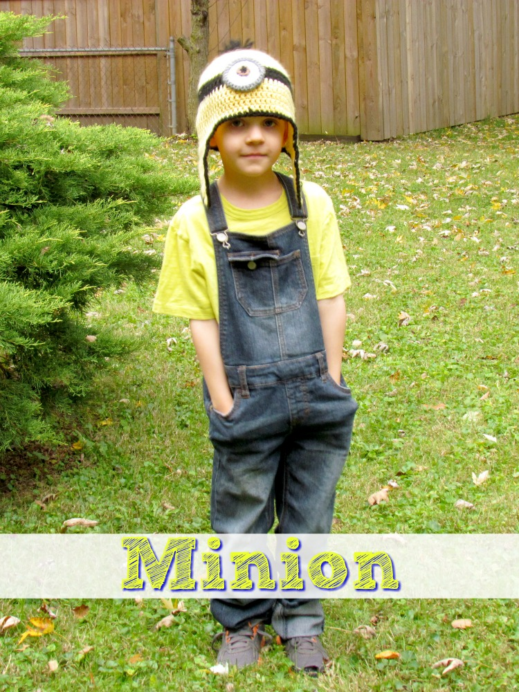 Become a Minion for Halloween. Despicable Me 2 family costume.
