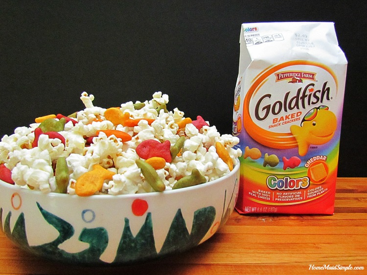 Fill your snack bowl with Goldfish Colors and Popcorn for a perfect after school snack. ad #PlantYourVote