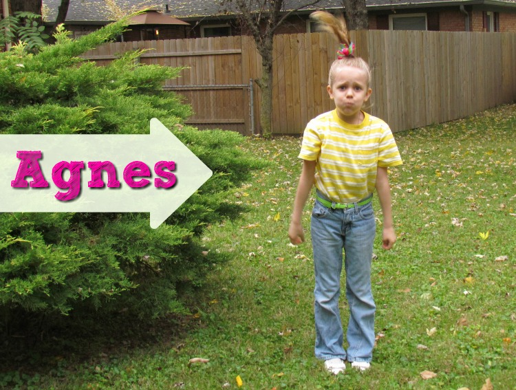 Dress up as the adorable Agnes from Despicable Me 2. Family costume idea.