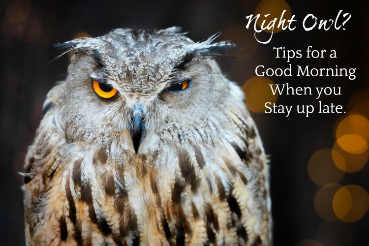 Night owl? Try these tips for having good mornings after being up late.