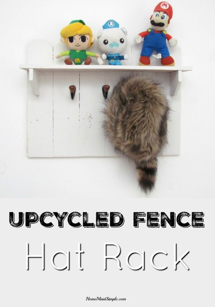 Upcycle an old fence into a hat rack. ad