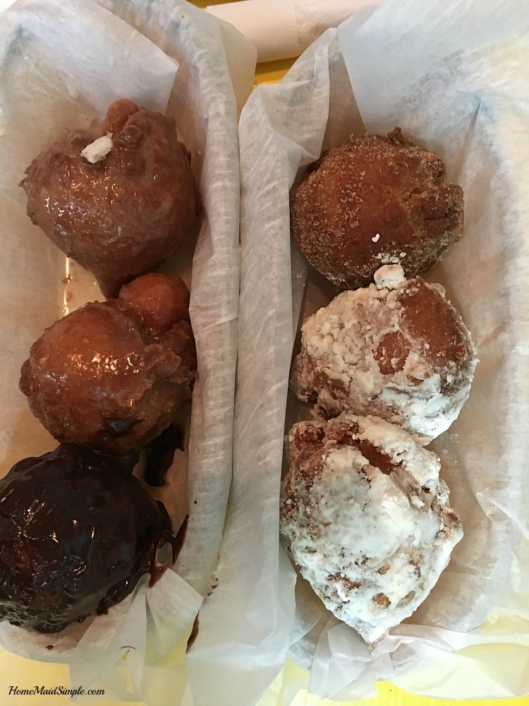 Fresh made donut holes from Bub's Cafe.