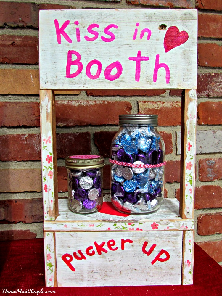 DIY Kissing Booth with a twist.