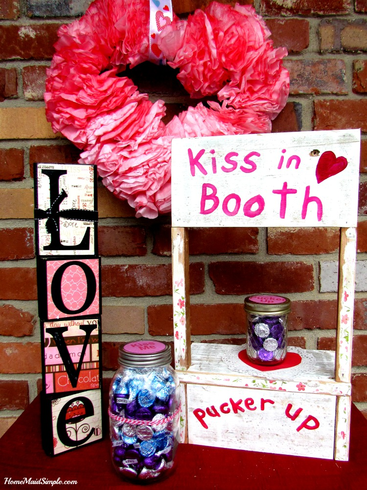Take a guess and win some kisses with this DIY Kissing Booth.