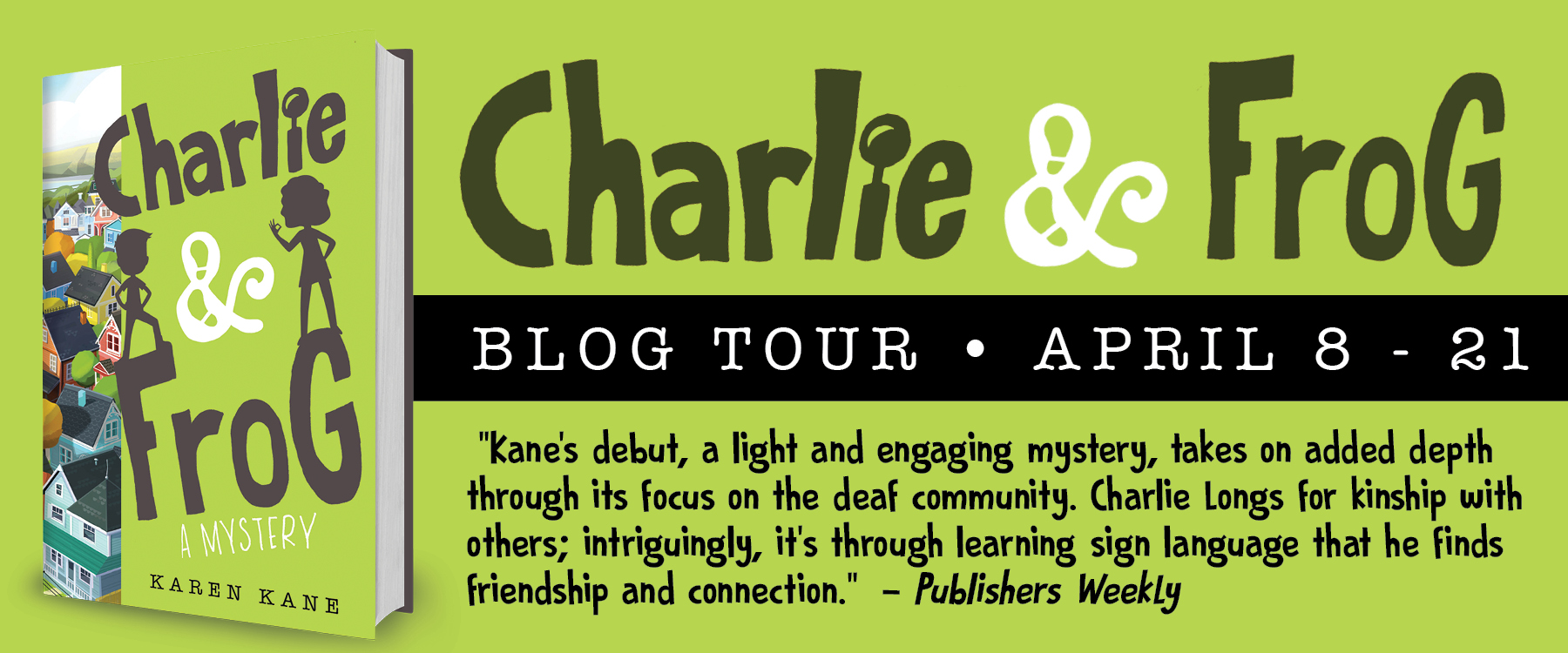 Charlie and Frog by Karen Kane book tour