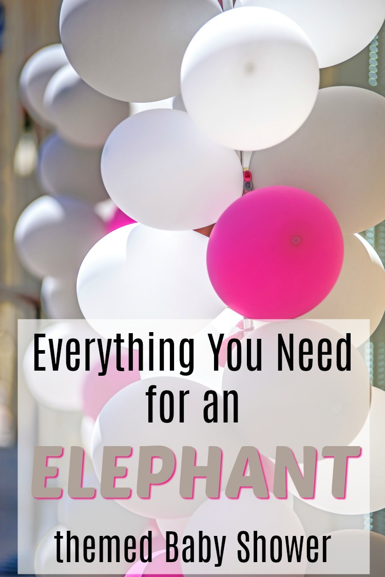 Everything you need for an Elephant baby shower.