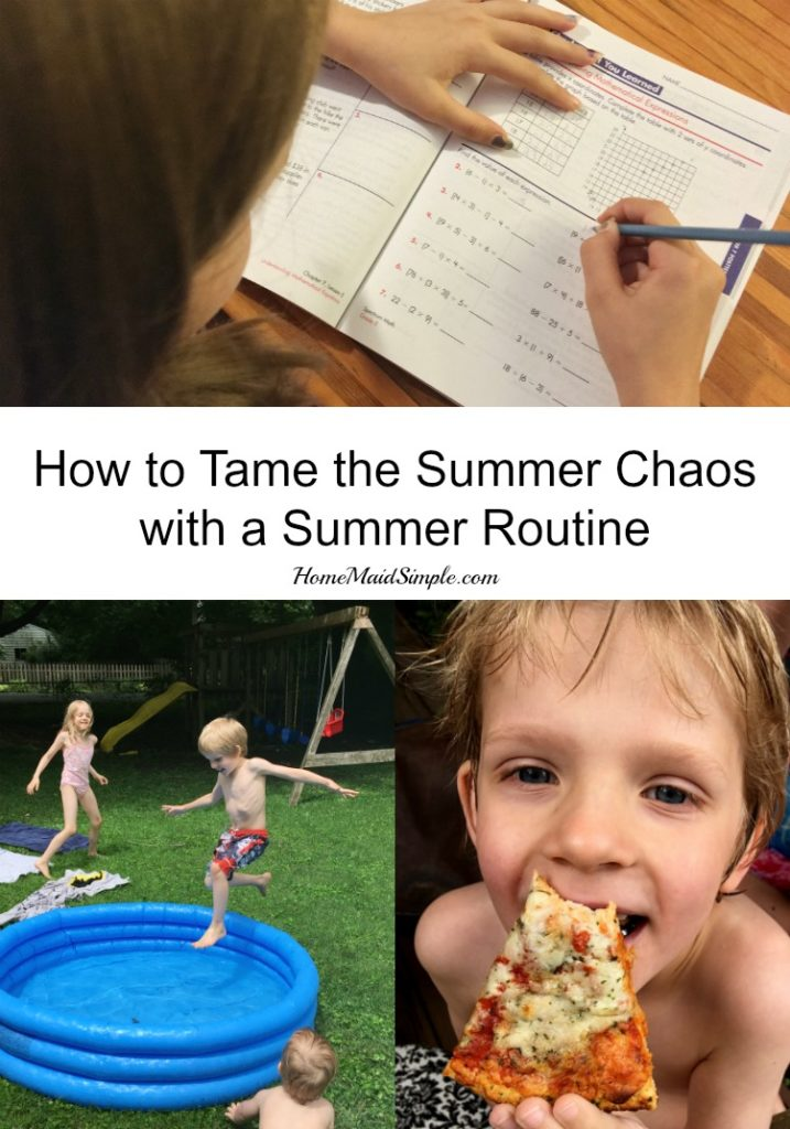 A Summer Routine to tame the Summer Chaos