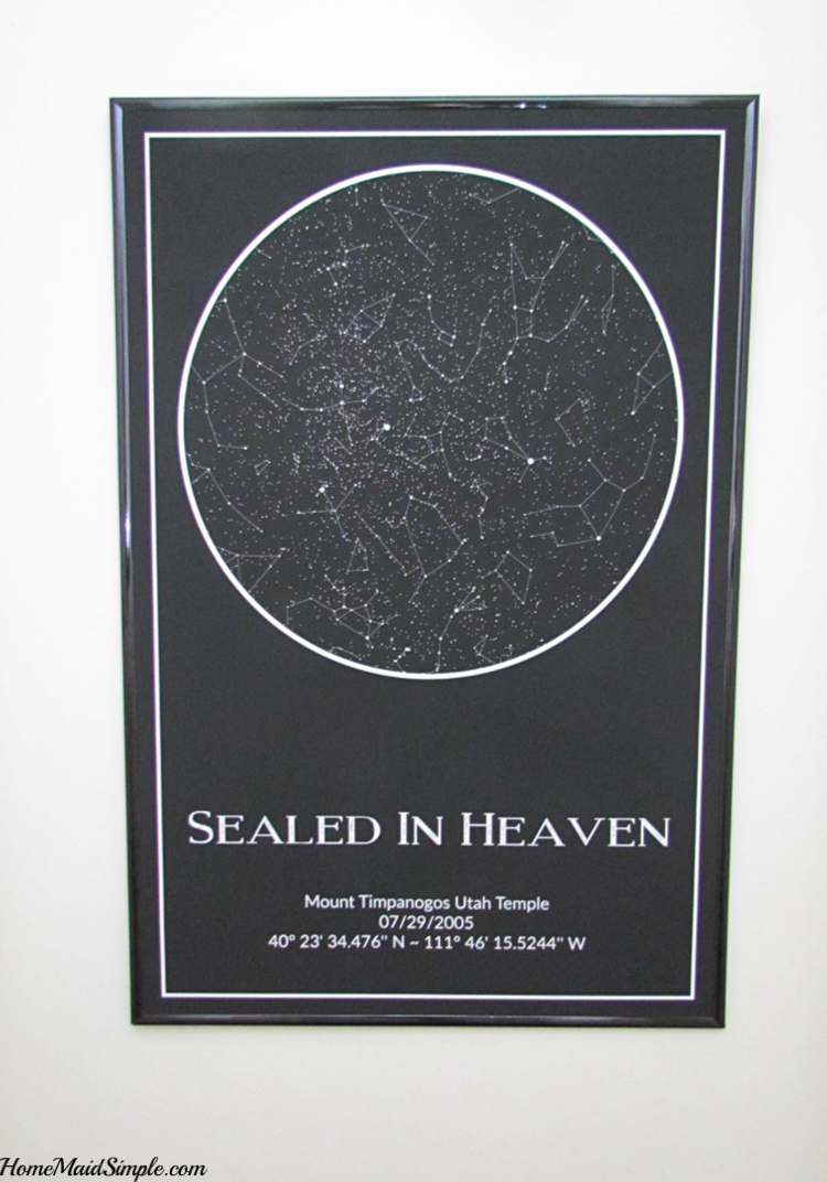 Sealed in Heaven, this Star Map Art is the perfect wedding gift.