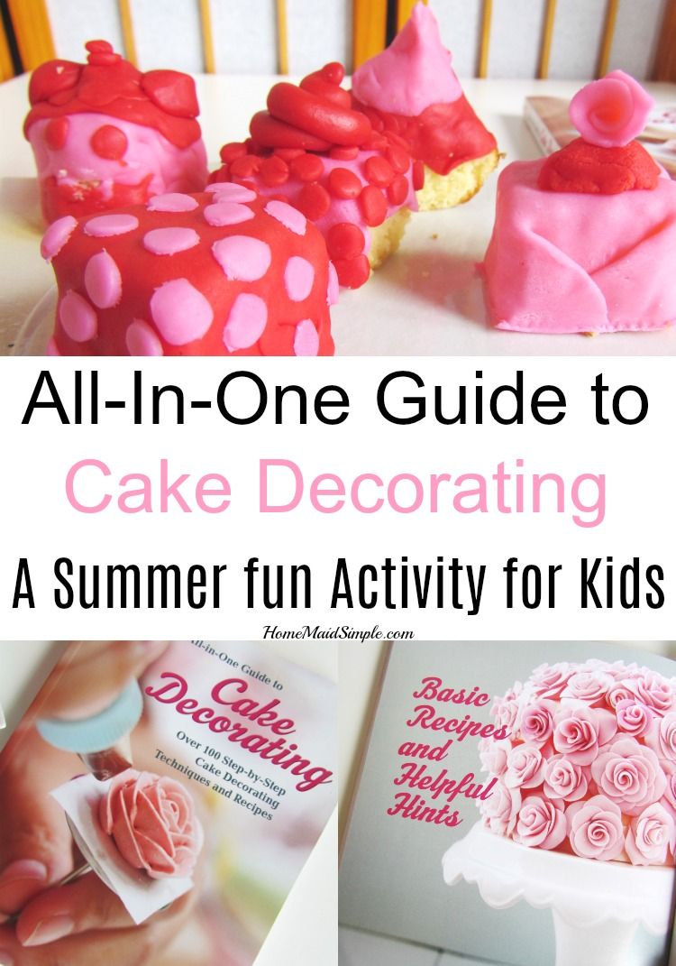 Summer heat has you stuck inside? Try a little cake decorating with the kids to use their creative minds in an edible way.