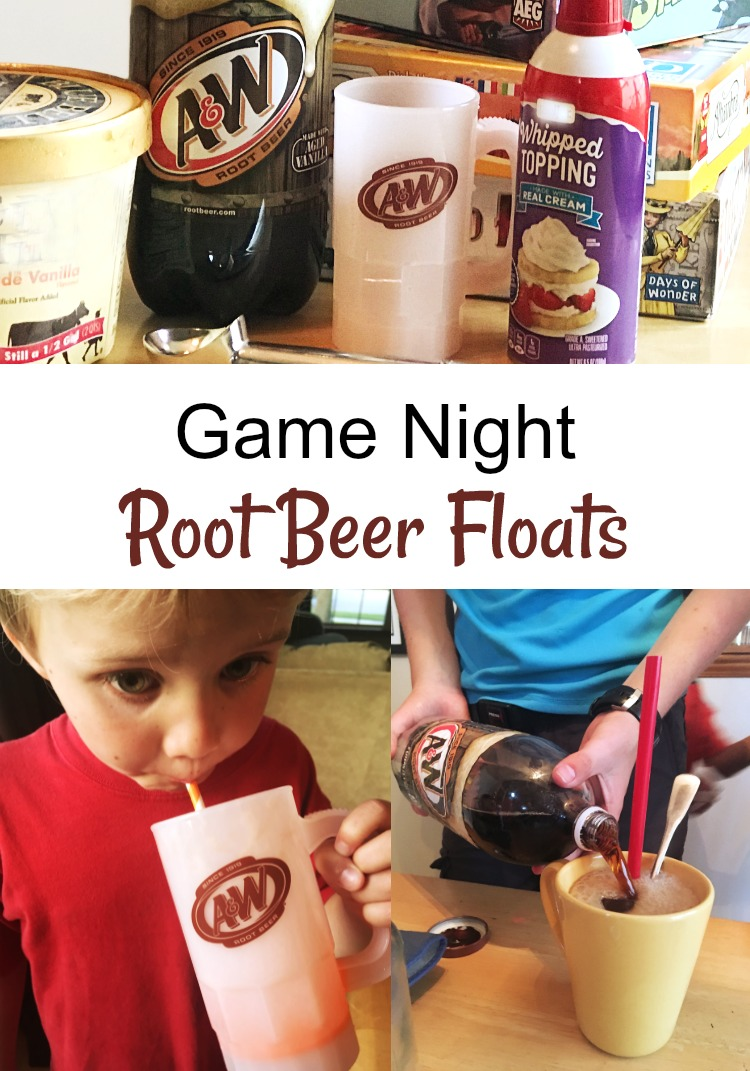 From game choice to ice cream choice, it's Root Beer Float Game Night!