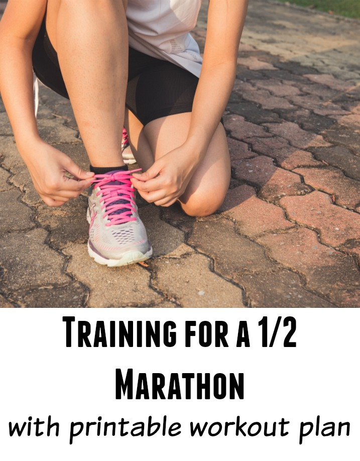 Train for a half marathon with this printable workout schedule.